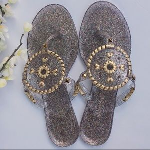 Jack Rogers Georgica glitter jelly sandals. Size 8